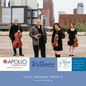 Apollo Chamber Players Concert March 6 @ First Congregational Church of Houston